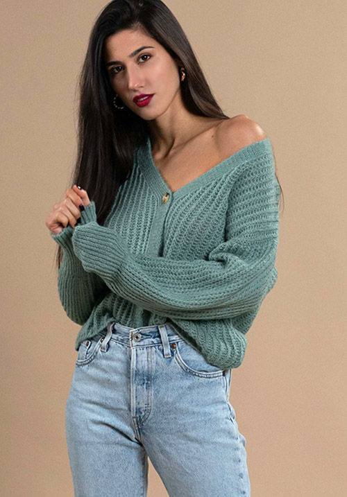 Chunky Mint Cardi (SOLD OUT)