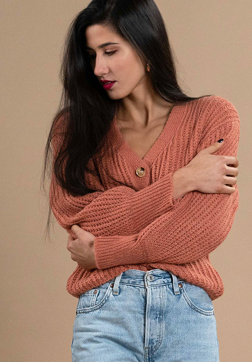 Chunky Peach Cardi (SOLD OUT)