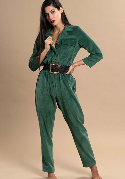 Corduroy Forest Jumpsuit (SOLD OUT)