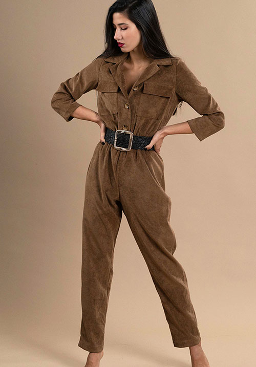 Corduroy Coffee Jumpsuit (SOLD OUT)