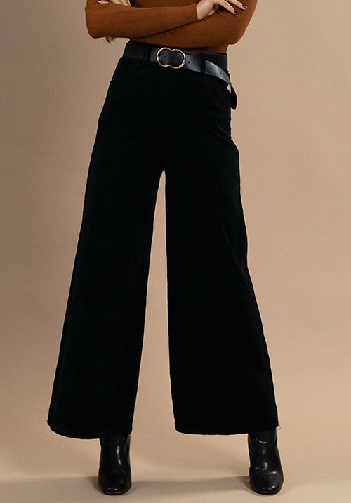 Corduroy Black Pants