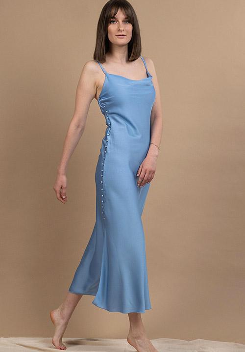 Sleek Sky Dress