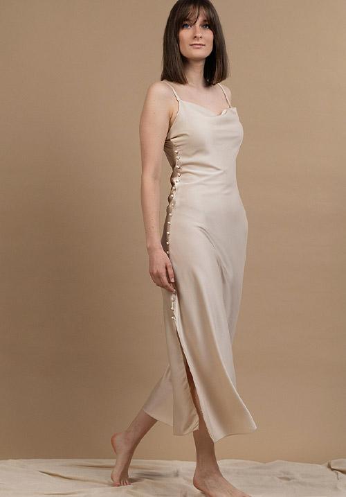 Sleek Cream Dress