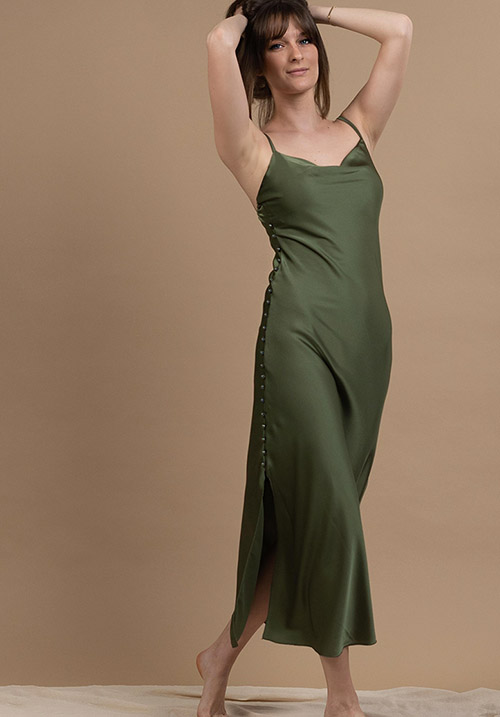 Sleek Khaki Dress (1 LEFT)