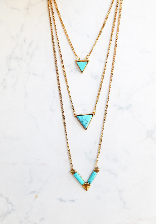 Turquoise Cracks Necklace