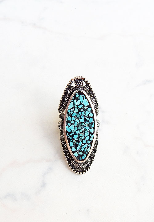 Turquoise Tiles Ring