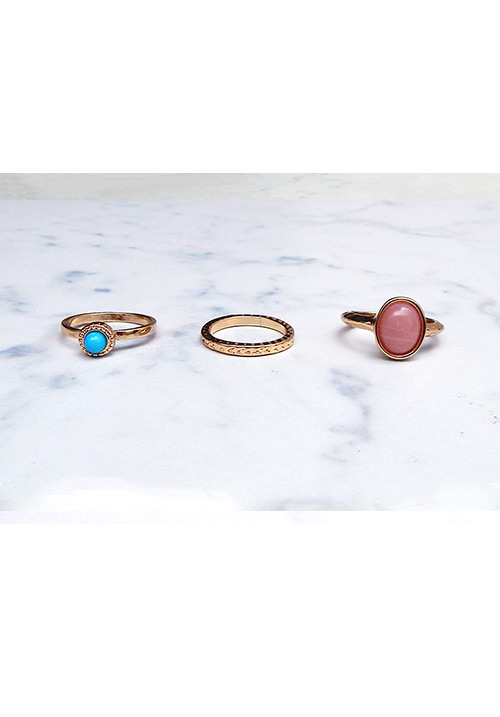 The Pastels Set of Rings