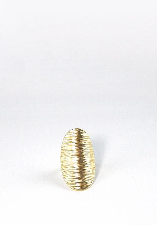 Ματ χρυσό οβάλ δαχτυλίδι