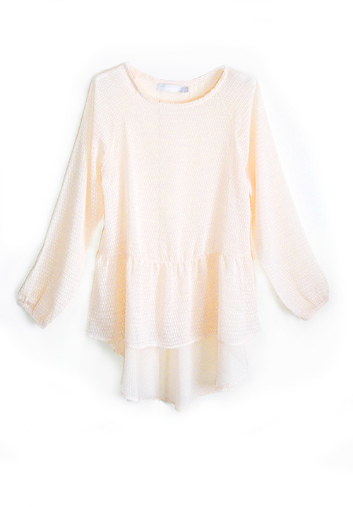Nude Sheer Blouse
