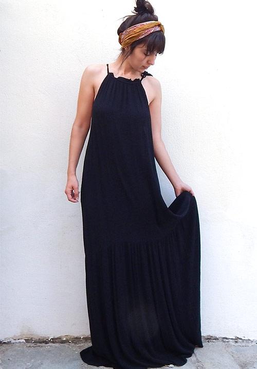 Desert Sun Black Dress