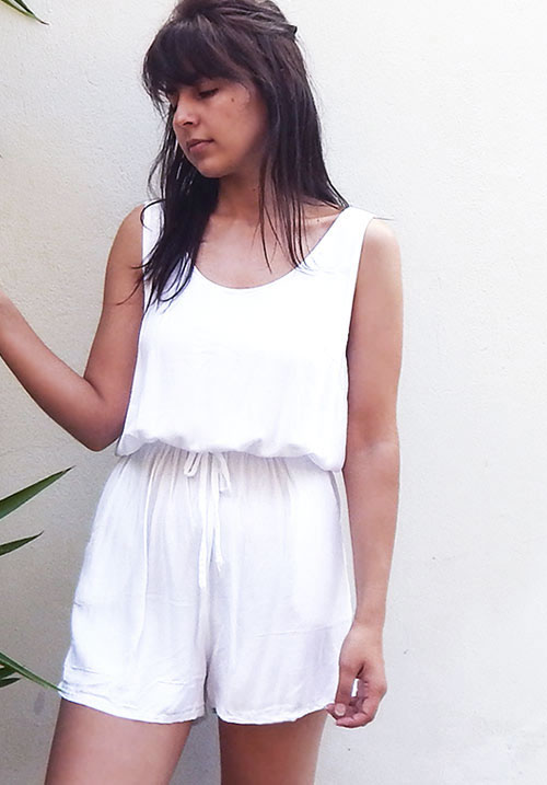 The Pacific Wave White Romper