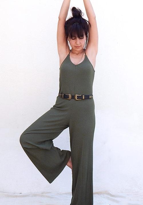 Laid Back Olive Jumpsuit
