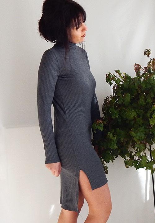 High Neck Mini Dress