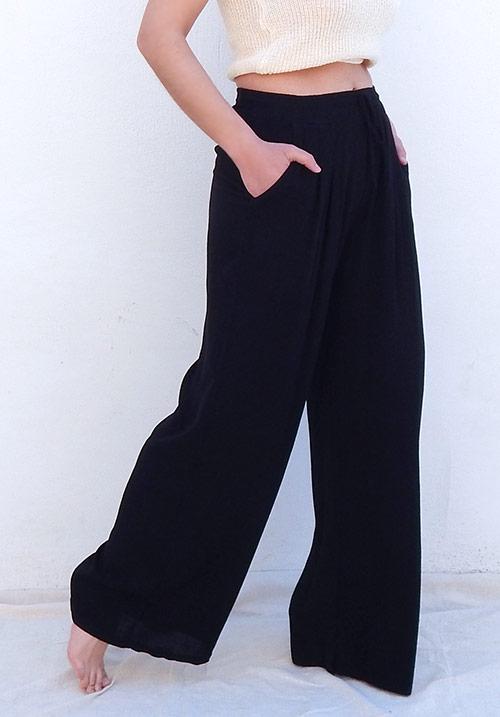 Wide Leg Black Pants (SOLD OUT)