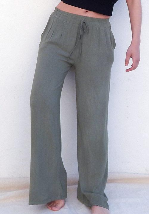 Wide Leg Khaki Pants (SOLD OUT)