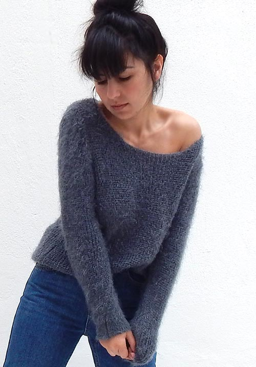 Fuzzy Dream Grey Knit