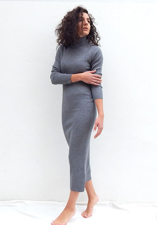 Butterscotch Grey Dress
