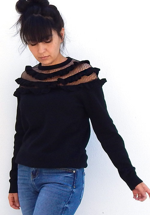 Cutie Pie Black Knit (SOLD OUT)