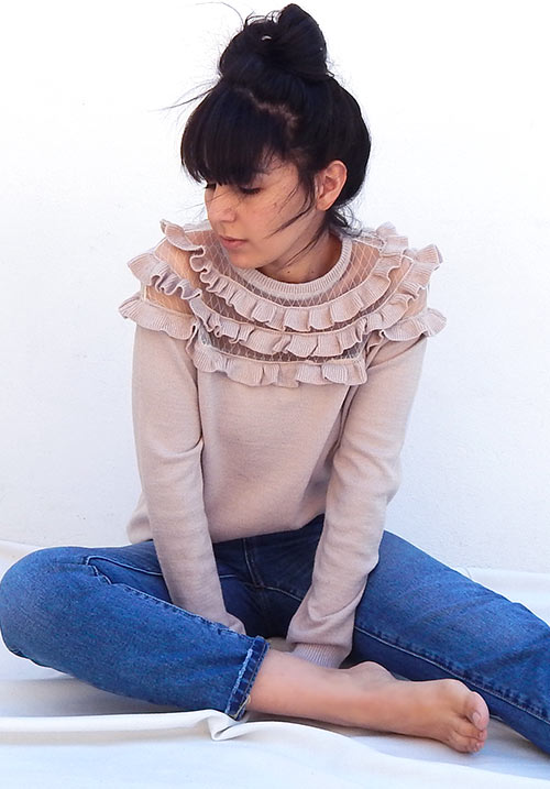 Cutie Pie Blush Knit (1 LEFT)