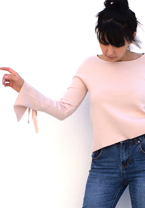 Tied Hands Pink Knit