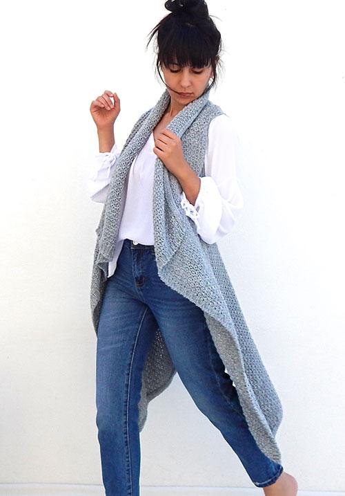 Knit Grey Vest