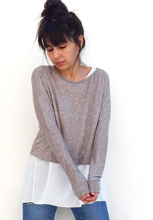 Layered Beige Knit