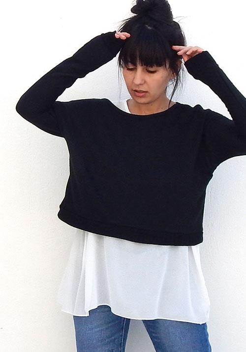 Layered Black Knit