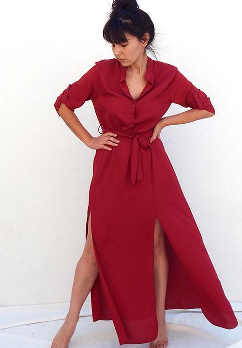 Mindtrap Bordeaux Dress (SOLD OUT)