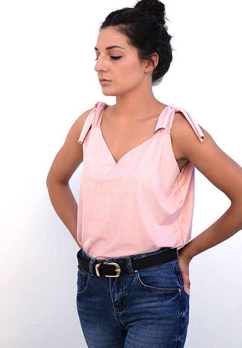 Suede Feel Pink Top (SOLD OUT)