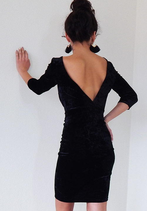 A Royalty Feel Black Dress