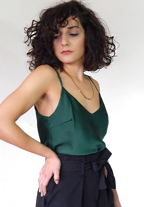 Satin Emerald Cami