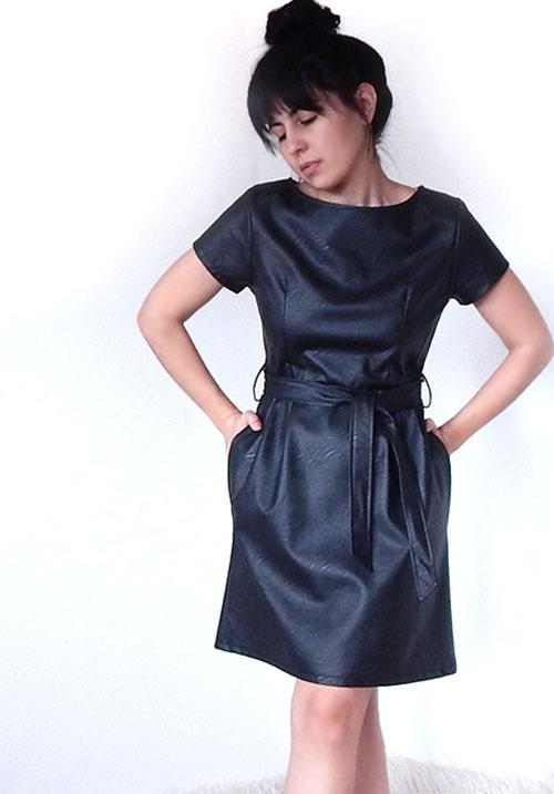 Blame Me Leather Dress