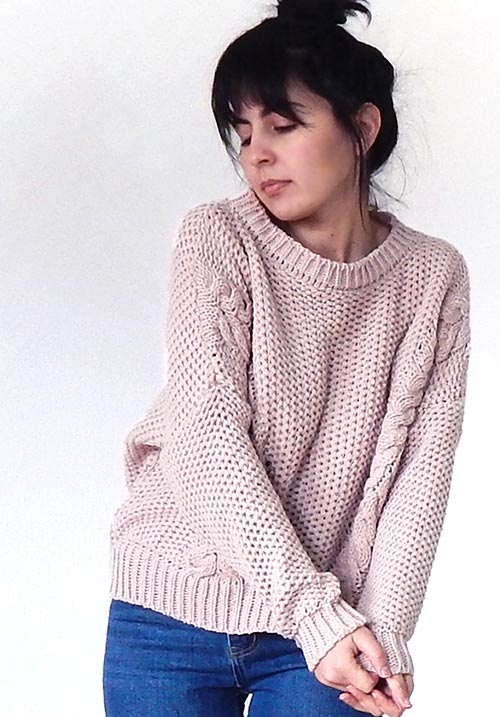 Warm Friend Pink Knit