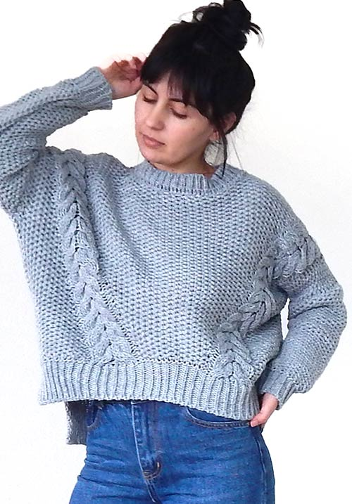 Warm Friend Grey Knit