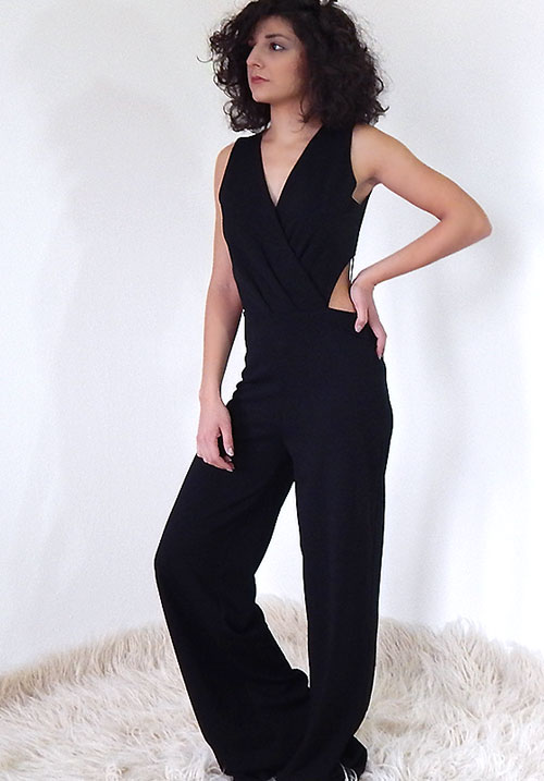 A Kiss n' Tell Black Jumpsuit
