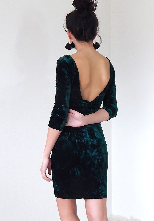 A Royalty Feel Emerald Dress (SOLD OUT)