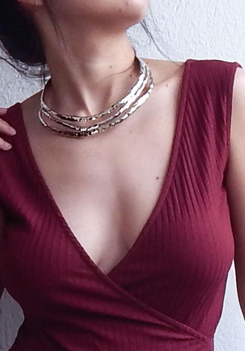 Silver Bondage Necklace