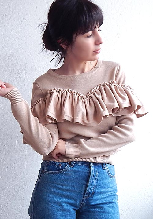 Candy Bar Ruffles Knit