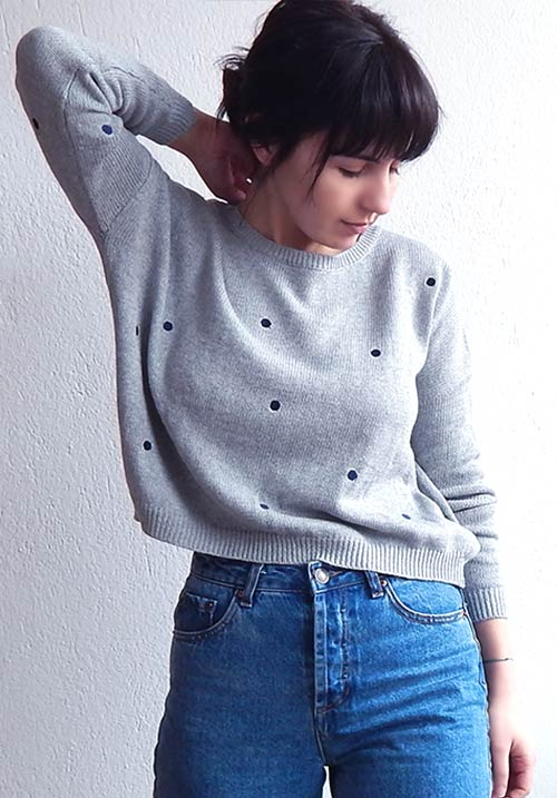 Blue Dots Knit