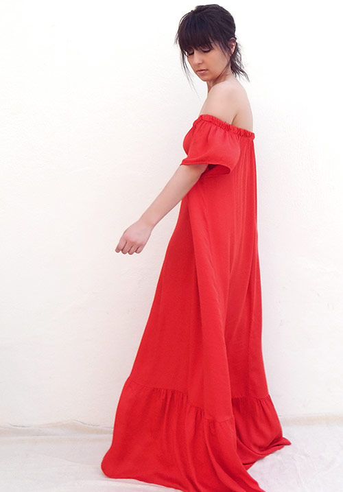 Drop Down Red Dress (SOLD OUT)