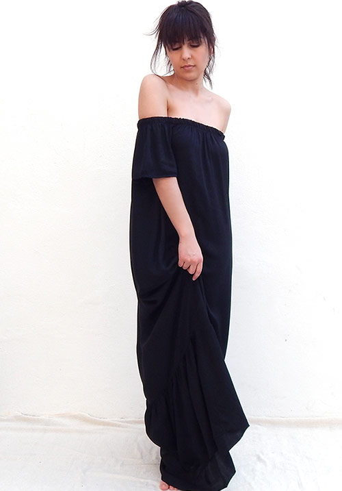 Drop Down Black Dress (SOLD OUT)