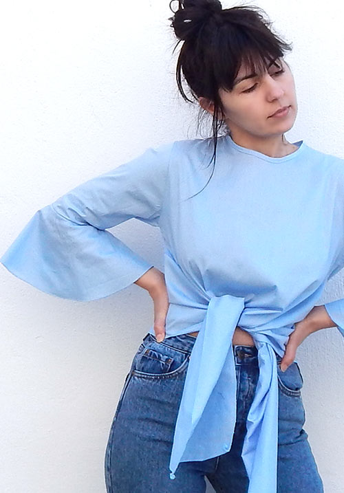 Coconut Water Blue Blouse