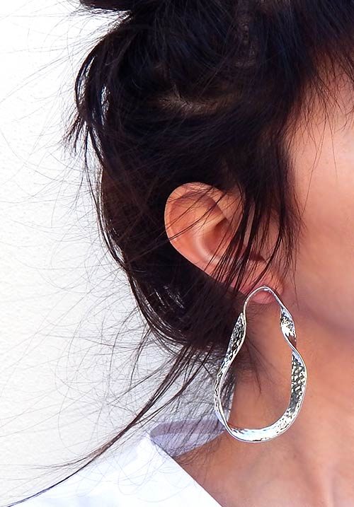 Silver Circuit Earrings