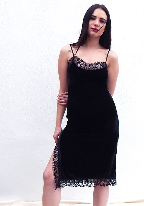 Velvet Touch Black Dress