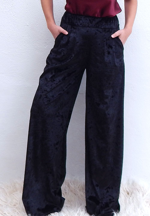 Velour Wideleg Pants (SOLD OUT)