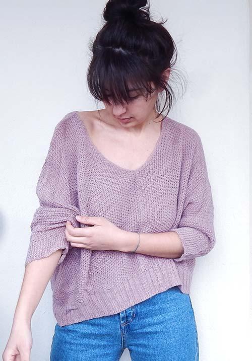 A Warm Tea Pink Knit