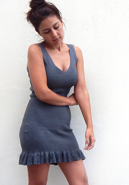 Froufrous Grey Mini Dress