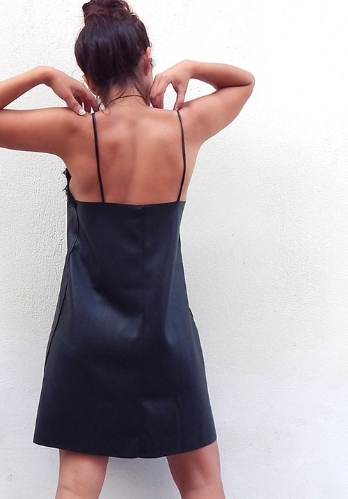 Bad Romance Slip Leather Dress
