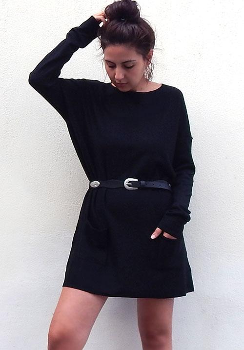 Cocoon Black Dress (1 LEFT)